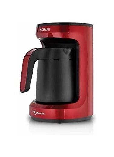 Schafer Schafer Kahvecim Otomatik Türk Kahve Makinesi Kırmızı Renkli
